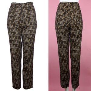 FENDI Zucca Logo High Waisted Jeans, size 26 W 28